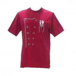 Kırmızı-Beyaz Chef Tshirt