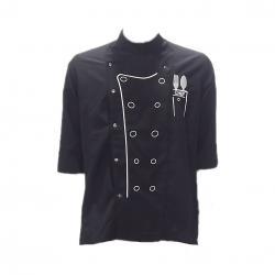 Siyah-Beyaz Aşcı Ceketi
