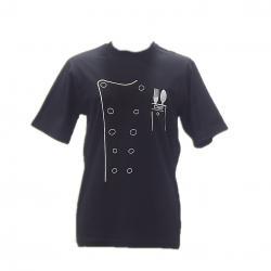 Siyah-Beyaz Chef Tshirt