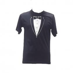 Siyah Kravat Modeli Chef Tshirt